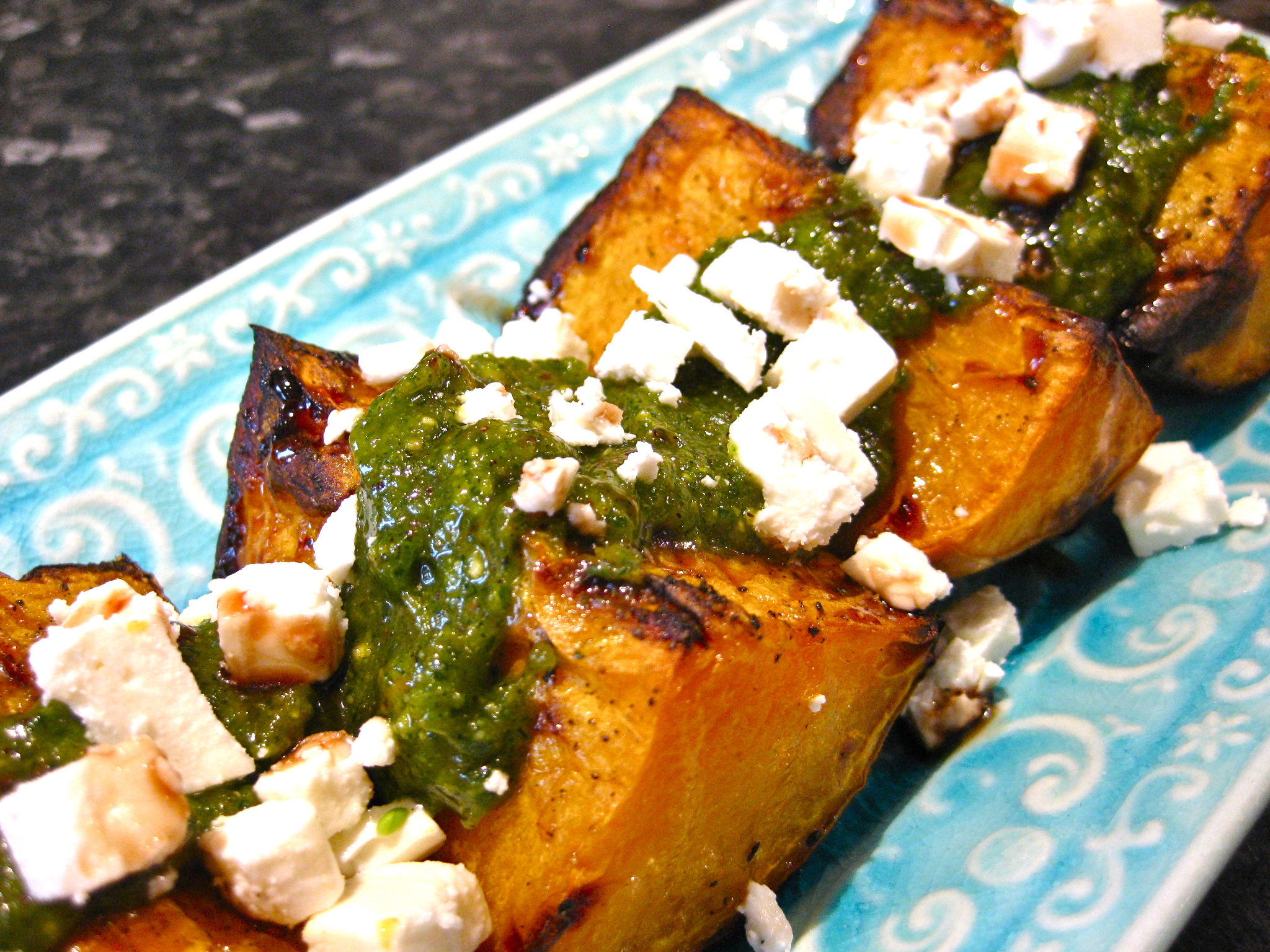 Roast Butternut with Pistachio Pesto